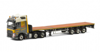 WSI Friderici VOLVO FH4 with FLAT BED TRAILER